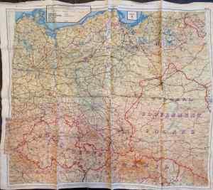 WWII escape map - Carl Guderain